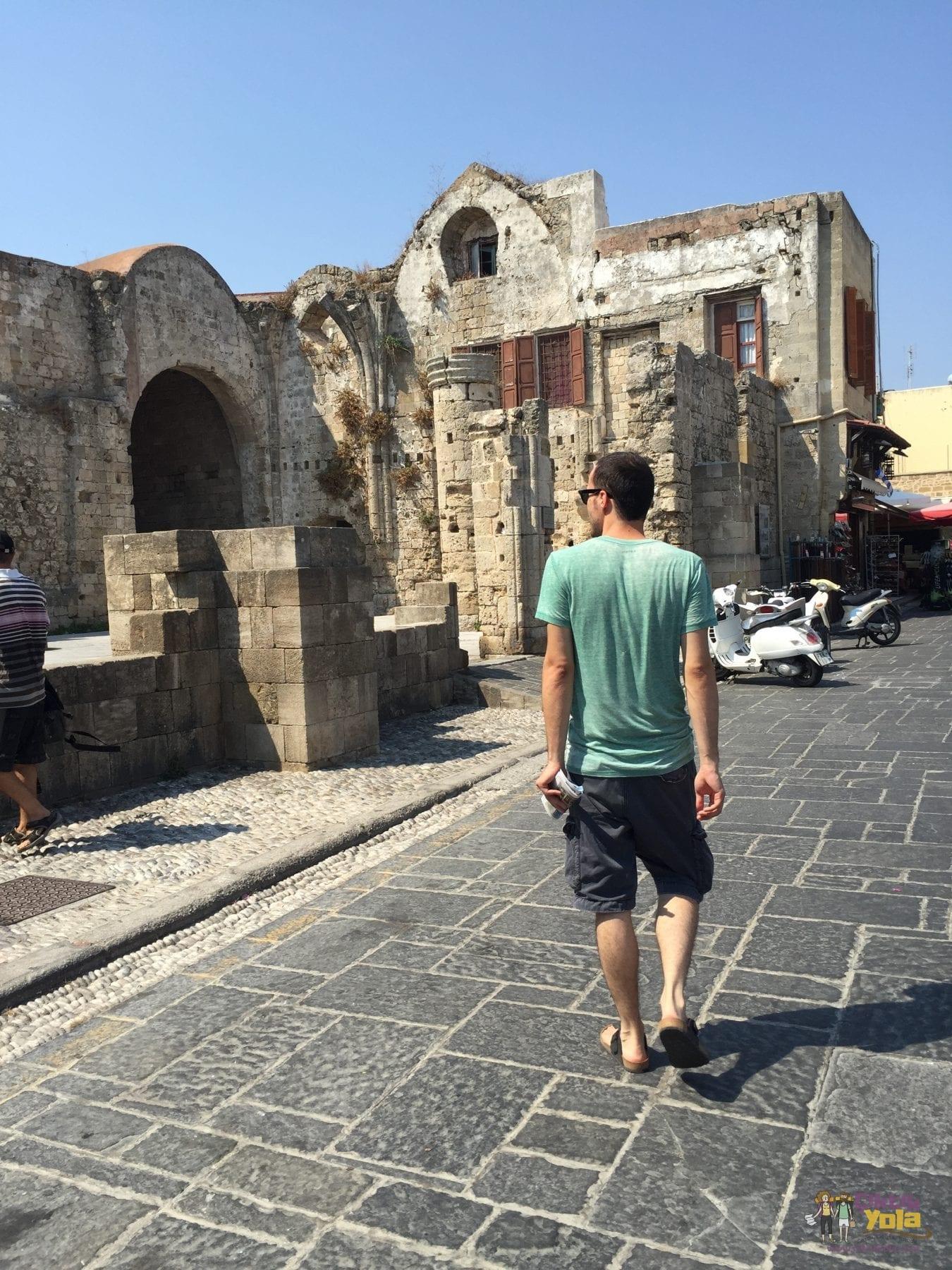 rodos antik şehir old city