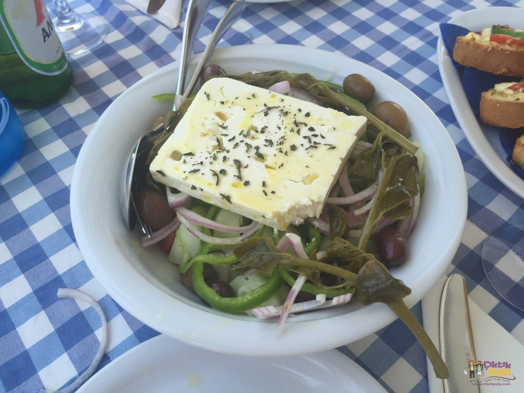 greek salad rodos faliraki