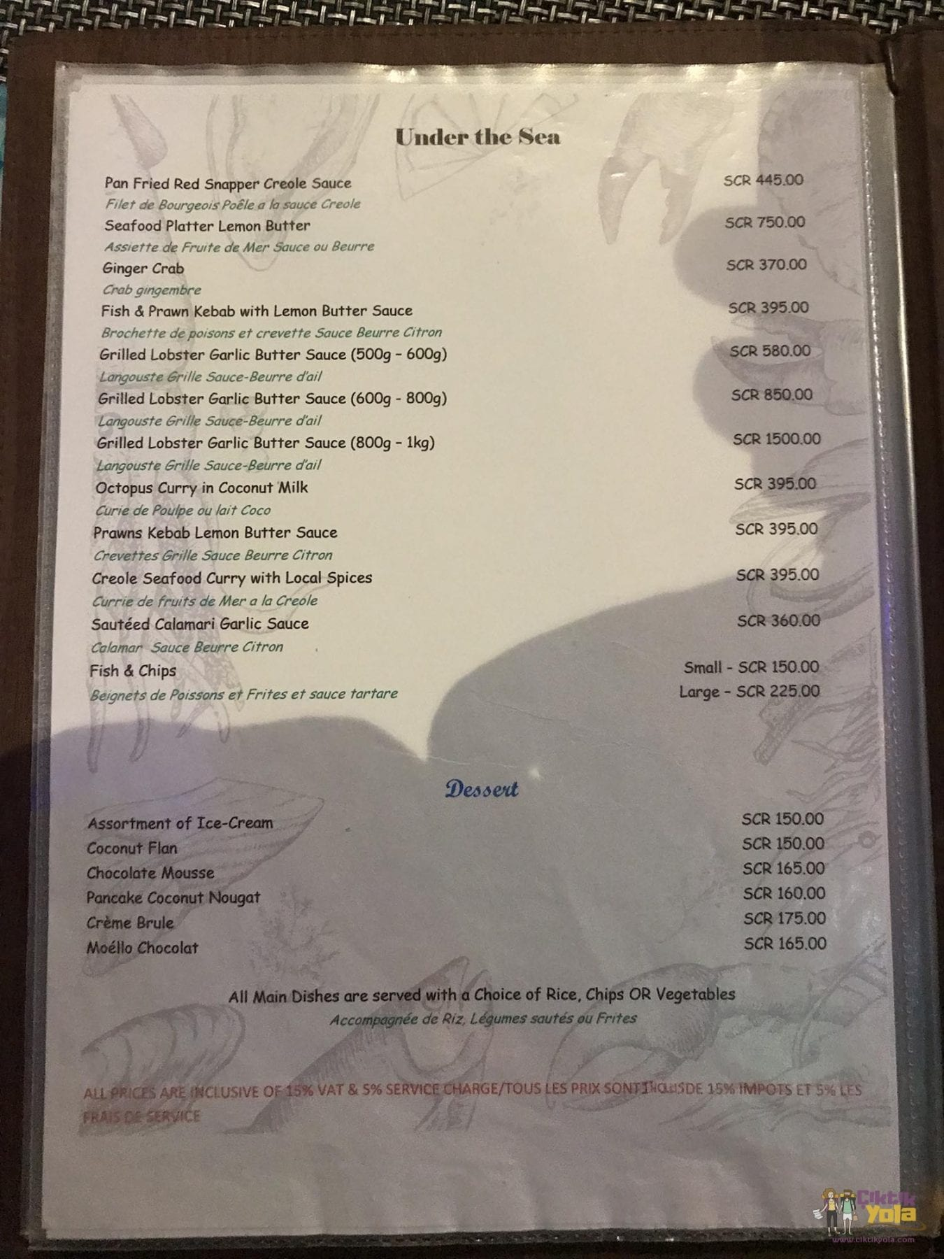 Fish Trap Menu