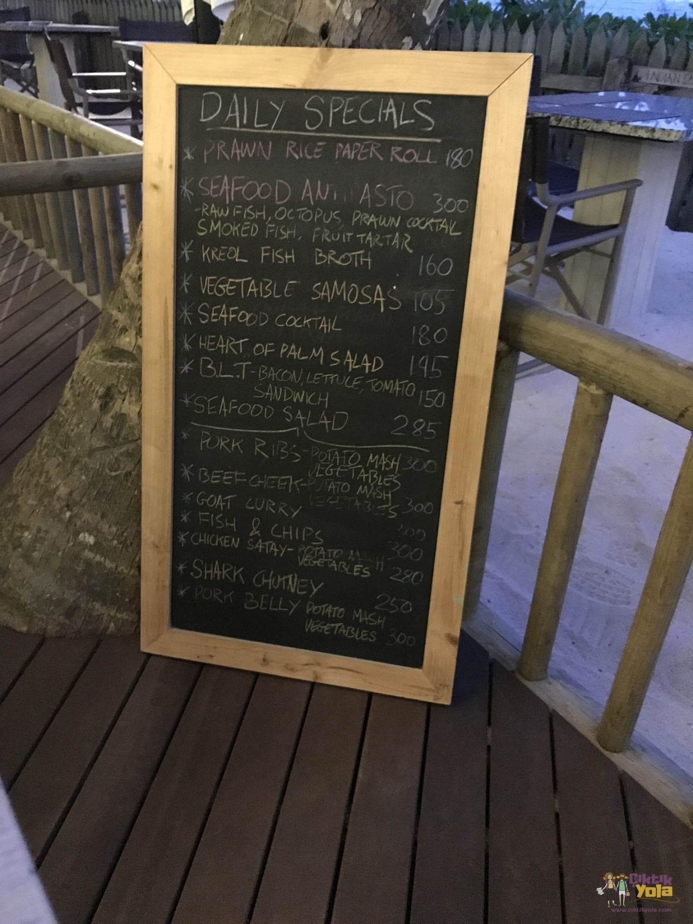 Kafe Kreol Fiyatlar
