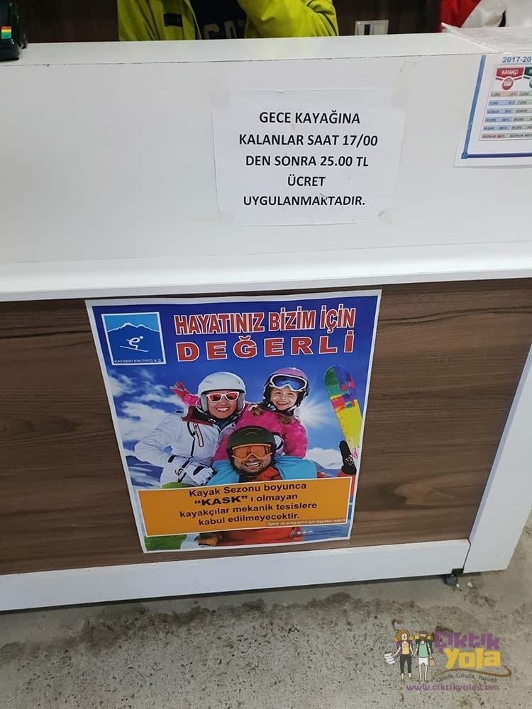 Erciyes Gece Kayağı Fiyat