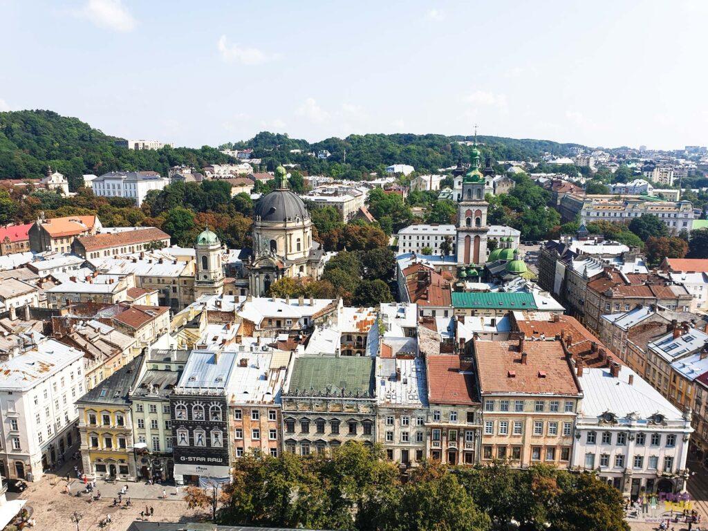 Lviv Belediye Binası Kuşbakışı